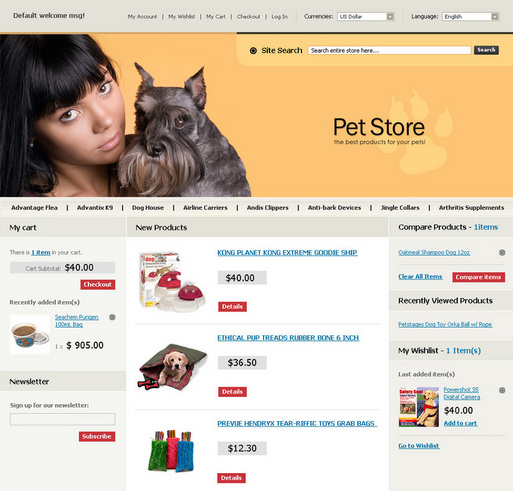 Онлайн магазин за домашни любимци