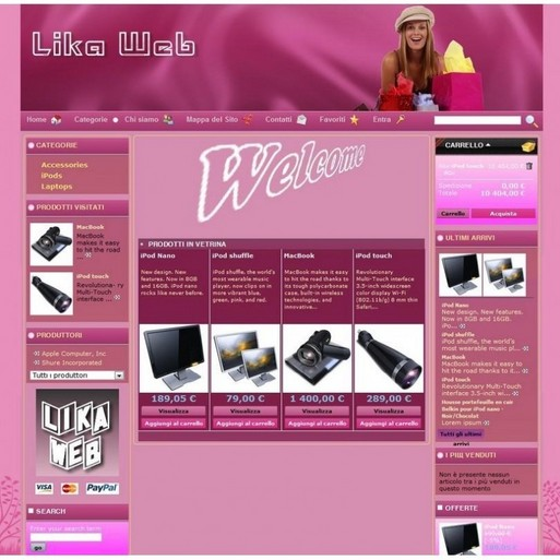 Безплатен темплейт за Prestashop - Pink Shop