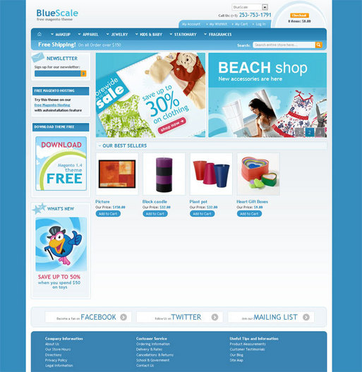 Free Magento template download