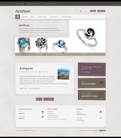 Безплатен онлайн магазин за бижута с Wordpress