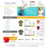 Free osComemrce template за онлайн магазин за дрехи и обувки