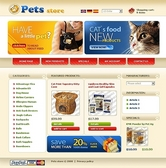Безплатен osCommerce template за интернет магазин за домашни любимци