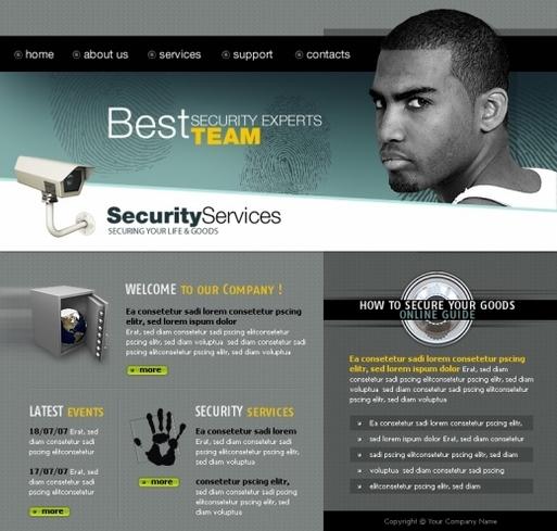 Сайт за охранителни фирми, видео и аудио наблюдения