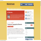 Wordpress темплейт - Mainstream