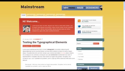 Wordpress темплейт - Mainstream